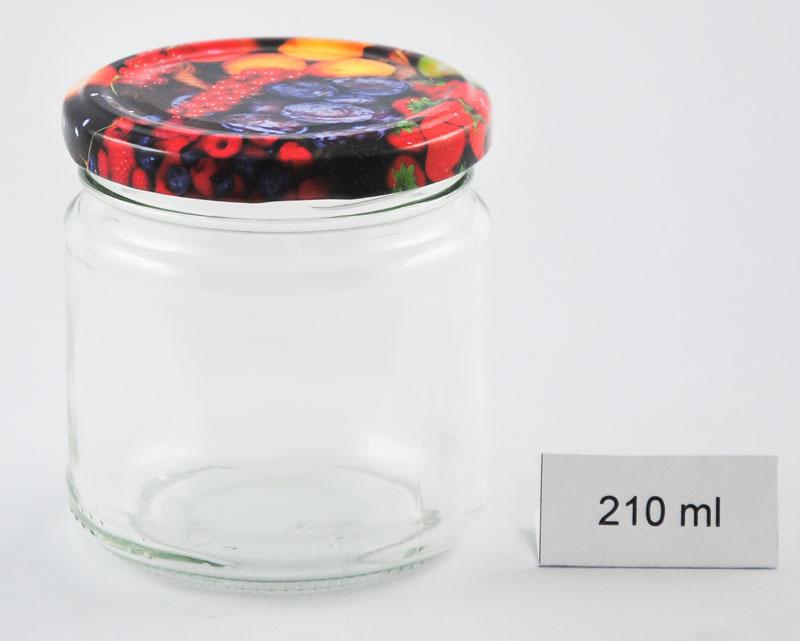 Marmeladenglas 210 ml mit Deckel